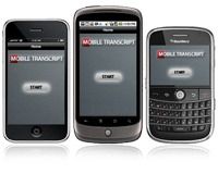 Mobile Transcript Apps